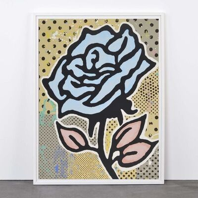 Donald Baechler, 'Blue Rose', 2015