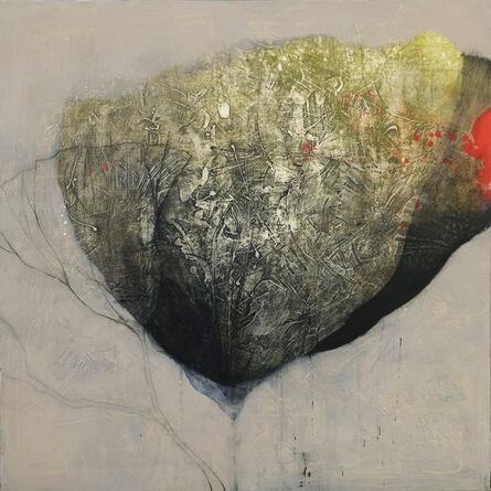 Nathalie Deshairs, 'Fleur verte avec rouge', 2020