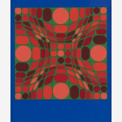 Victor Vasarely, 'Fayr Fond Blue'