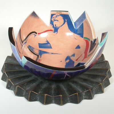 Paul Mathieu, 'Crucifixion Bowl', 1984