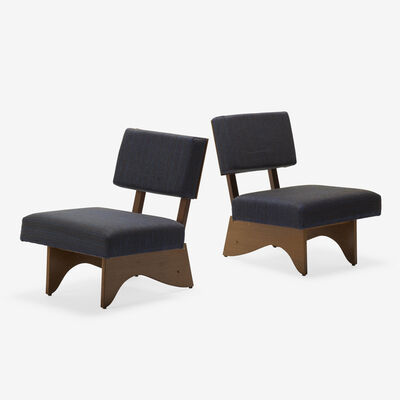 André Sornay, 'lounge chairs, pair', c. 1950