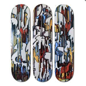 Momies, ''Dégoulinant V2' Skateboard Deck Triptych', 2012