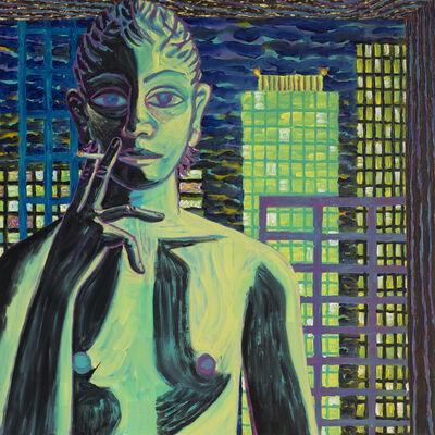 Benjamin Degen, 'Landscape with boy smoking', 2016