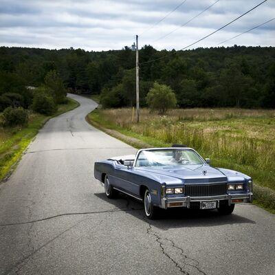 Cig Harvey, 'Frances and the Blue Caddie, Hope, Maine', 2011