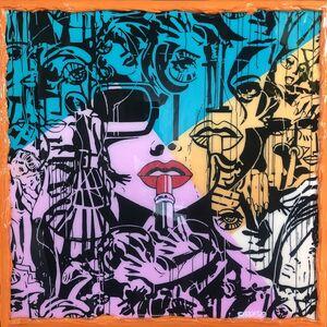 Marc Ferrero, 'LIPSTICK variation géométrique Orange blue pink', 2020