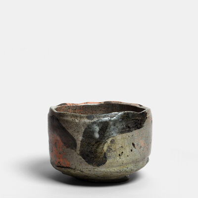 Tanimoto Kei, 'Raku chawan (Raku tea bowl), Iga-aka-raku-tetsue chawan', 2013