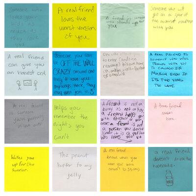 Tanja Hollander, 'Grid of 16 Post-It Notes', 2012-2016