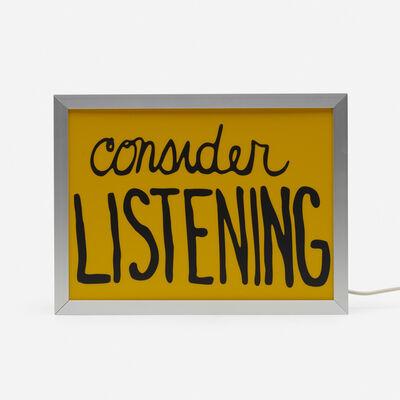 Sam Durant, 'Consider Listening', 2017