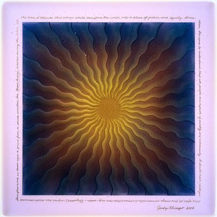 Judy Chicago, 'Fused Mary Queen of Scots in Glass 2', 2007