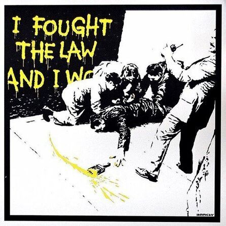 Banksy, 'I Fought The Law - Yellow (Signed) Artist Proof', 2004