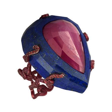 William Ehrlich, 'Ruby and Lapis Lazuli Ring', 2015