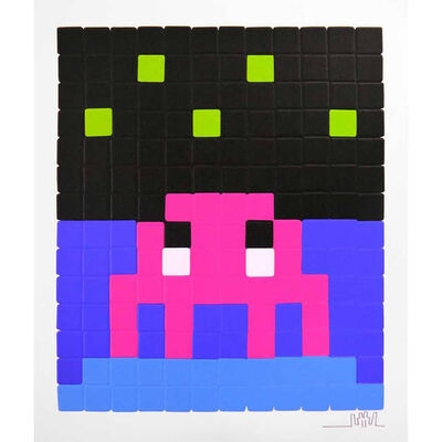 Invader, 'Space One (Pink)', 2013