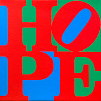 Robert Indiana, 'HOPE (Red, blue, green)', 2015