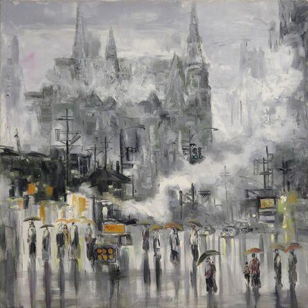 Zhang Shengzan 张胜赞, 'In spring rain', 2002