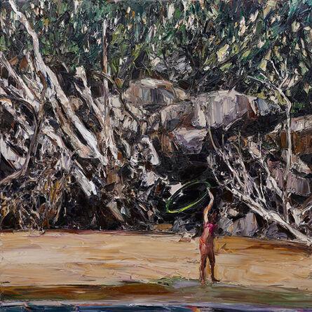 Nicholas Harding, 'Estuary landscape (hoola-hoop)', 2014