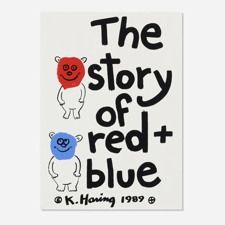 Keith Haring, 'Cover for The Story of Red and Blue', 1989
