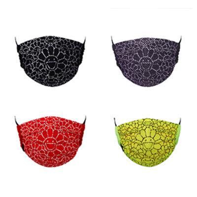 Takashi Murakami, 'Takashi Murakami Mesh Flower Pattern Mask (Black, Grey, Red, Yellow)', 2020