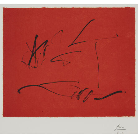 Robert Motherwell, 'Red Wind, from Octavio Paz', 1988