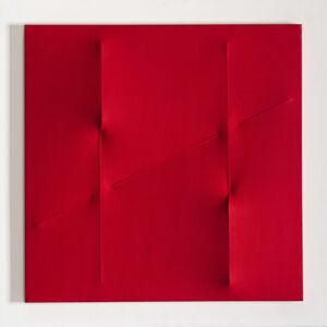 Agostino Bonalumi, 'Rosso', 2004