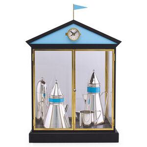 Aldo Rossi, 'Rare four-piece Piazza coffee and tea service, Italy: coffee pot, teapot, creamer, sugar, and presentation box', 1984