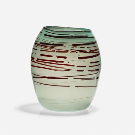 Dale Chihuly, 'Early Teal Basket with Oxblood Spots', 1979