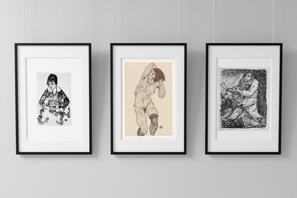 Figuration and Ideology, the avant-garde experiences of the first half of 20th century. Schiele, Grosz, Picasso, Kubin, Klee, Kirchner, Schneider, Heine. Photography by Yva (Else Simon)