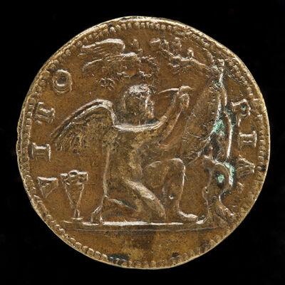 Giovanni Maria Pomedelli, 'Genius Writing on a Shield [reverse]'