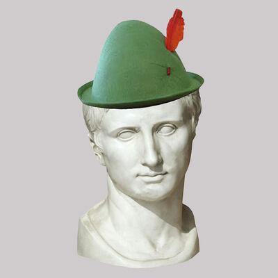 Cecilia Miniucchi, 'Roman Emperor Augustus/Green Alpine Hat', 2018