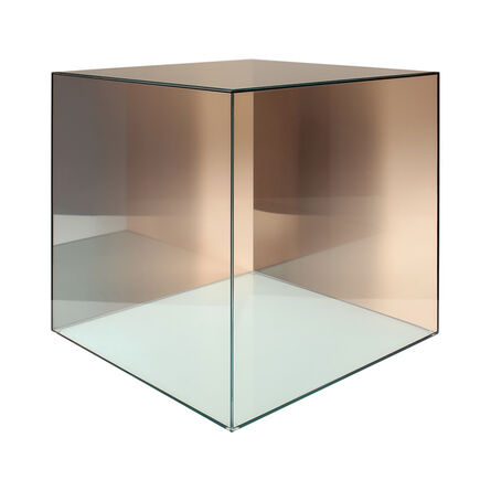 Larry Bell, 'Cube # 32  (Amber / Green)', 2005