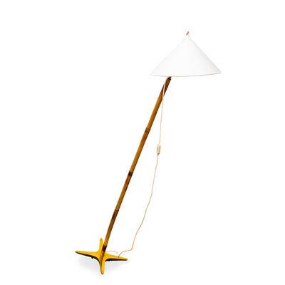 "Carl Auböck, 'Carl Auböck ""X"" Floor Lamp Model No. 3740 ca. 1940 Brass Bamboo Mid-Century', ca. 1940"