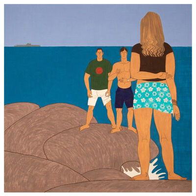 Yves Tessier, '3 Youths on the Jetty', 2015