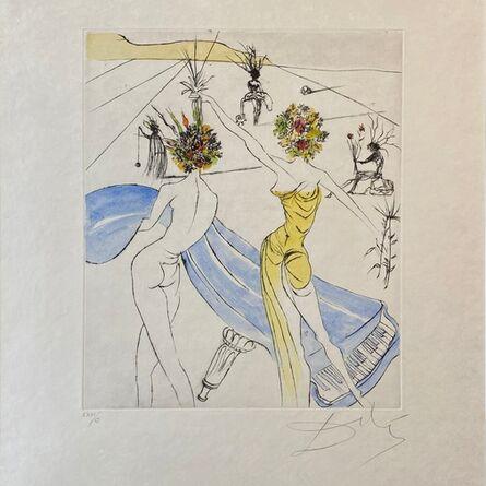 Salvador Dalí, 'Hippies Suite: Flower Women with Soft Piano - Femmes Fleurs au Piano ', 1969-1970