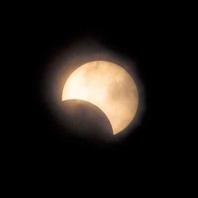 Kate Breakey, 'Solar Eclipse, 3rd contact, Nebraska [Ref. #9]', 2017