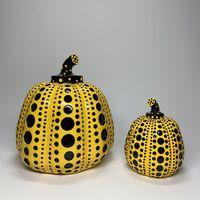 "Yayoi Kusama, 'ICONIC Yayoi Kusama Rare Yellow-Black Resin Pumpkin 8"""" Tall', ca. 2015 -present"