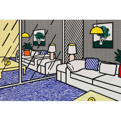 Roy Lichtenstein, 'WALLPAPER WITH BLUE FLOOR INTERIOR', 1992