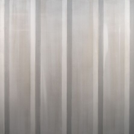Milly Ristvedt, 'Everything and Nothing - large, monochrome, vertical stripes, acrylic on canvas', 2012