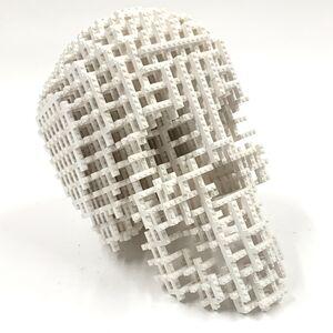 Nathan Sawaya, 'Grid Skull White', ca. 2020