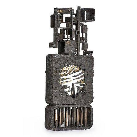 James Bearden, 'Brutalist Sculpture, Gilded Steel and Bronze', 21st Century