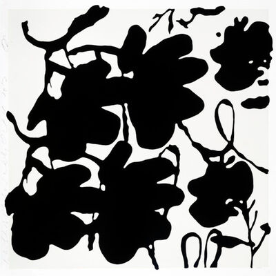 Donald Sultan, 'Donald Sultan, Lantern Flowers, Black and White, Oct 4, 2017', 2017