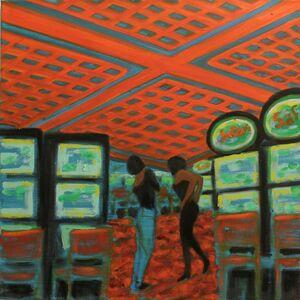 Jane Dickson, 'Orange Grid', 2011