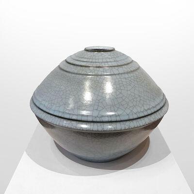 Nakashima Hiroshi, 'Seiji Celadon Jar with Carved Patterns', 2016