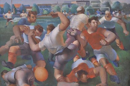 Football in Croatian painting