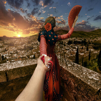 Murad Osmann, 'Spain, Granada 2', 2013