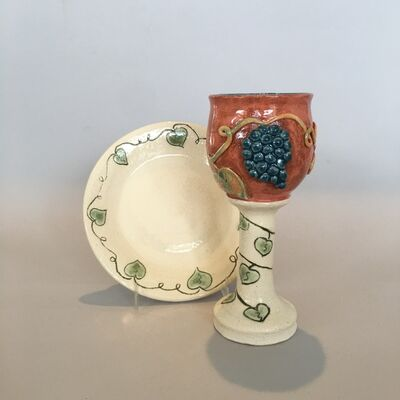 Cass Glickman, 'Kiddush Cup with Tray', 2020