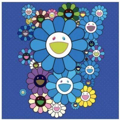 Takashi Murakami, 'FLOWERS BLUE VELVET', 2016