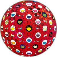 Takashi Murakami, 'Flowerball: Bright Red', 2016