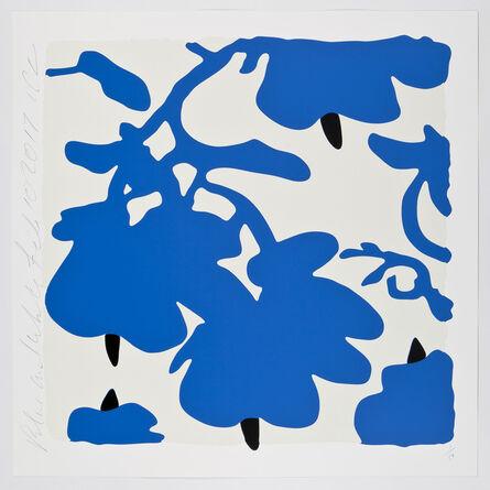 Donald Sultan, 'Blue and White,  Feb 10, 2017', 2017