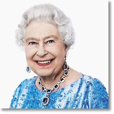 David Bailey, 'Her Majesty The Queen. Dye-sublimation Print on ChromaLuxe Aluminum. Colour Photography.', 2021