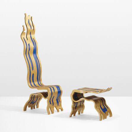 Roy Lichtenstein, 'Brushstroke Chair and Ottoman', 1986-1988