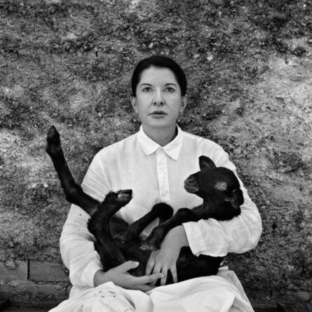 Marina Abramović, 'Portrait with Lamb (black)', 2010